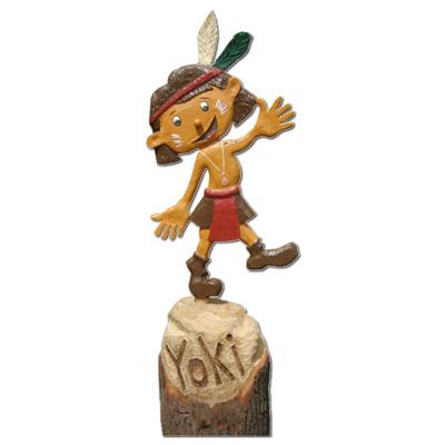 Yoki, der Indianerjunge yoki schnitzerei morgenstern