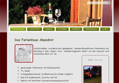 """Von mir empfohlen - Ferienhaus """"Abendrot"""" von Familie Marcus Köhler abendrot holzhau ferienhaus Ferienhaus """"Abendrot"""" in Holzhau"""