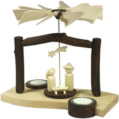 """Produktneuheit 2012: Pyramide """"Welle / Krippe / Heilige Familie"""" weihnachtspyramide welle krippe ahorn eiche unikat erzgebirge  Pyramile Welle - Krippe - Heilige Familie"""