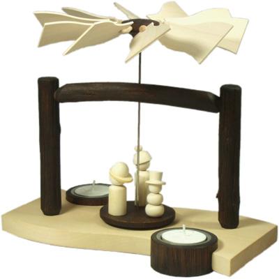 """Produktneuheit 2012 - Weihnachtspyramide """"Welle / Winter / Schneekids"""" produktneuheiten 2012 weihnachtspyramide eichenholz winterfiguren schneekids Weihnachtspyramide WINTER (WELLE) """"Schneekids"""""""